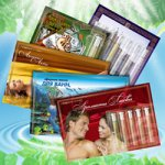 Композиции эфирных масел на сувенирных открытках