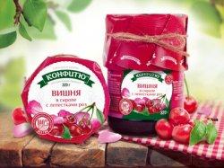 Варенье из вишни в сиропе из лепестков роз