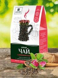 Зеленый чай с земляникой и розой